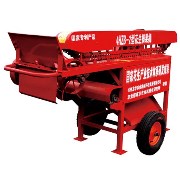 结构花生摘果机主要有机架,电动机(柴油机),传动部分,摘果脱离部分,风